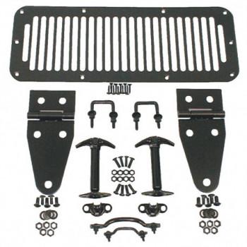 accessoire de capot noir kit, 78-95 Jeep CJ5 CJ7 CJ8 & Wrangler YJ