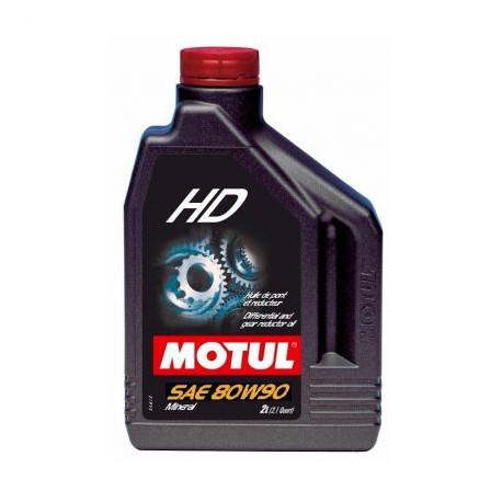 BIDON HUILE MOTUL 80W90 HD SAE BOITE - PONT (2 LITRES)