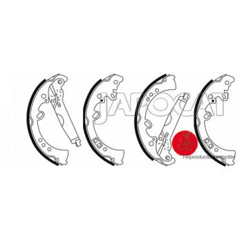 MACHOIRES de FREIN EBC (le jeu) TOYOTA HILUX & MAHINDRA GOA