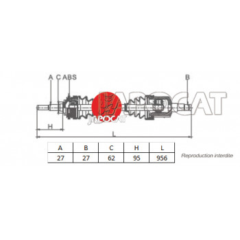 CARDAN AVANT Droit Complet HYUNDAI TUCSON & KIA SPORTAGE