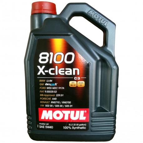 HUILE MOTEUR MOTUL 5W40 8100 X-CLEAN C3 bidon 5L