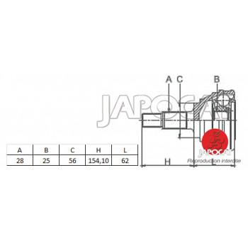 JOINT HOMOCINETIQUE / TETE de CARDAN MITSUBISHI L200 - PAJERO - MONTERO & HYUNDAI GALLOPER