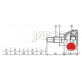 JOINT HOMOCINETIQUE / TETE de CARDAN 00-07 MITSUBISHI PAJERO