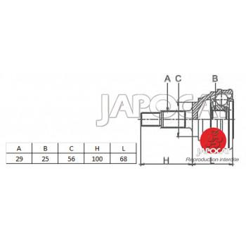 JOINT HOMOCINETIQUE / TETE de CARDAN 00-07 NISSAN X-TRAIL T30