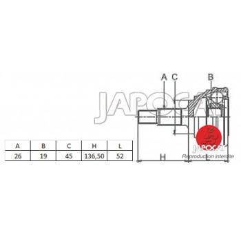 JOINT HOMOCINETIQUE / TETE de CARDAN SUZUKI SJ410 SAMOURAI