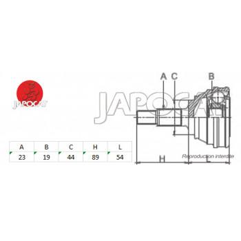 JOINT HOMOCINETIQUE / TETE de CARDAN SUZUKI SJ SAMOURAI