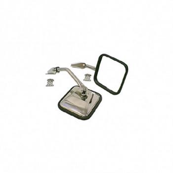 retroviseur inox kit, 55-86 JEEP CJ5 CJ6 CJ7 & Wrangler YJ