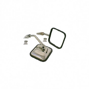 retroviseur inox kit, 55-86 JEEP CJ Models
