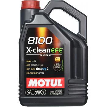 HUILE MOTEUR MOTUL 5W30 8100 XCLEAN EFE C2/C3 5 litres