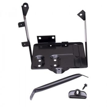 support de batterie noir Kit, 76-86 Jeep CJ5 CJ7 CJ8